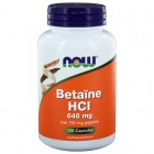 Betaine HCI 648 mg Now